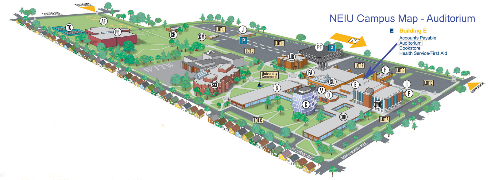 Campus Map   NEIU Auditorium